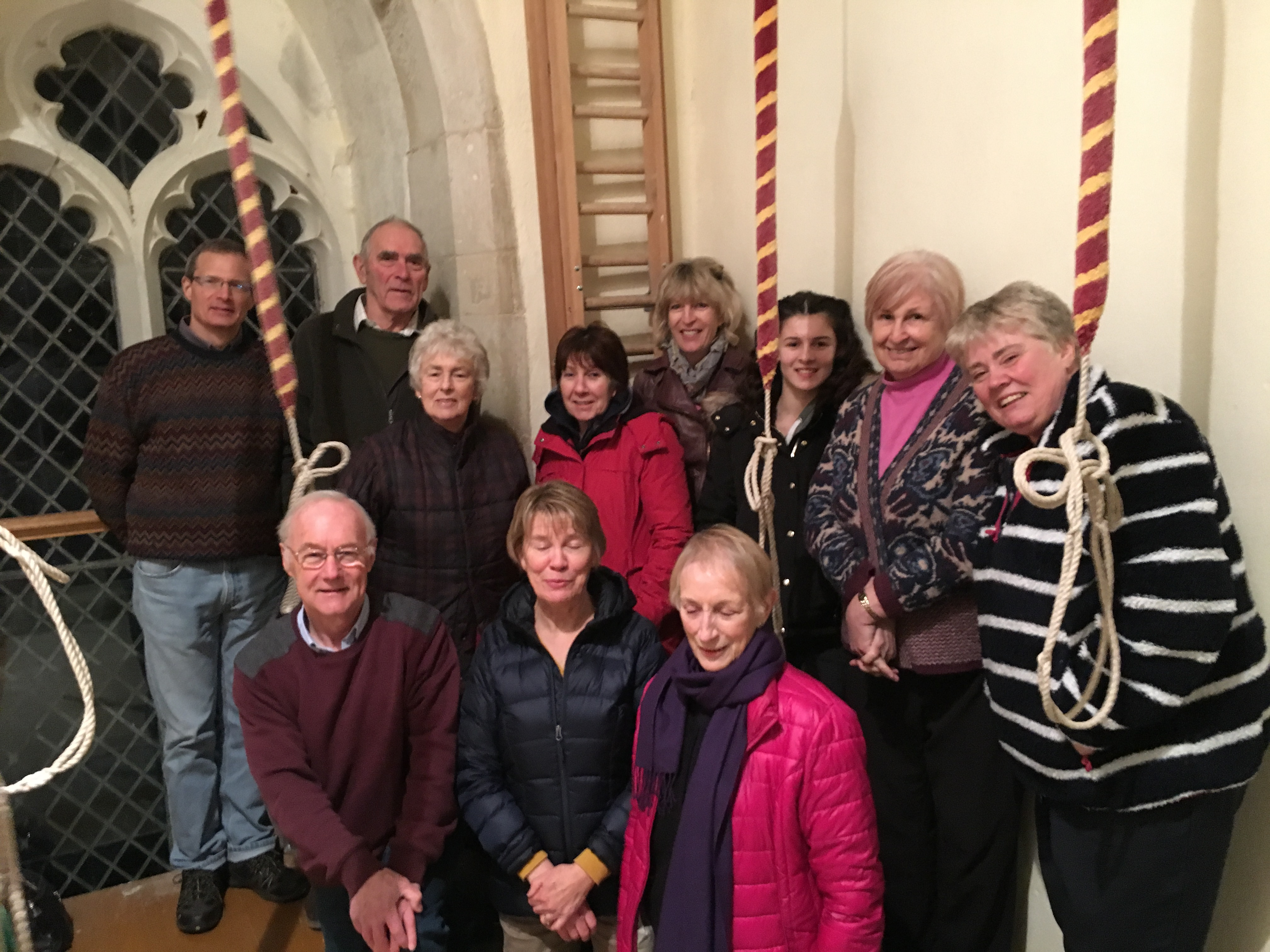 Some of Great Chishill's ringers, January 2018